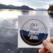 Let's Head for the Hills Wanderlust Sticker | Water Laptop Bottle Sticker | RV Camper Bus Van Airstr – Products