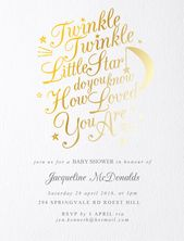 Baby Showers Twinkle Twinkle Twinkle - baby shower invitations