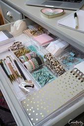 Tipps und Produkte zum Organisieren von kreativen Schubladen – #kreativen #organisieren #pro