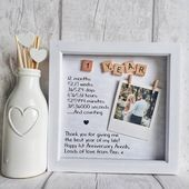 First Anniversary Frame | Anniversary Gift | Gift For Partner | One Year Anniversary | Paper Anniversary Gift | Anniversary Gift For Wife