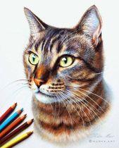 "Ivy League Art  su Instagram: """"3D Cat"" by Olya Dudinskaya.art Follow Olya Dudin…"