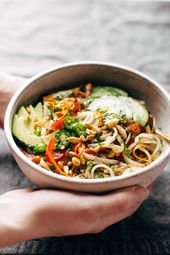 Spring Roll Bowls with Sweet Garlic Lime Sauce – All Things Healthy