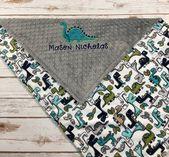 Dinosaur Minky Baby Blanket, Dinosaur Baby, Blanket, Gray Dinosaur Blanket, Dinosaur …   – Love's