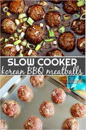 Slow Cooker Korean BBQ Fleischbällchen, eines dieser einfachen Set und vergessen Sie es Rezept …   – meatball recipes