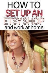 Work From Home Mom: Set Up Your Very Own Etsy Shop