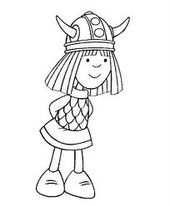 Viki El Viking Imprimir Dibujos Para Colorear Vikingos Dibujos