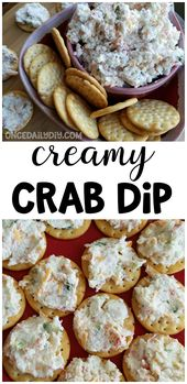 Creamy crab dip recipe – the BEST party appetizer you can make for guests! Chees…