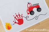 Make gifts with children – Cool tea towels