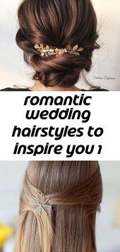 Romantische Hochzeitsfrisuren, die Sie inspirieren 1