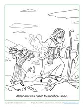 Abraham Was Called To Sacrifice Isaac Coloring Page Children S Bible Activities Sunday School Activities For Kids Sunday School Coloring Pages School Coloring Pages Abraham And Sarah