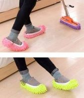 d12c99c93eabf5dd08b79be1f7346748 Mop Slippers Shoes Cover. Check out these unusual but extremely useful house cle...