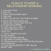 Relationship Advice – part 2