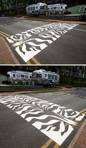 Zebra Crosswalk Street Painting Zebra Crossing Street Art