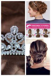 Details about Romantic Royal Tiara Crown Clear Austrian Rhinestones Bridal Wedding Prom Party #FrisurenfrdenAbschlussball #Austrian #Bridal #Clear
