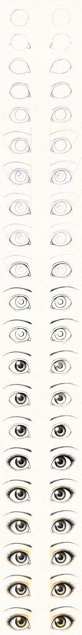 Zeichne die Augen einer Textilpuppe / Tutorial: Ze…