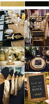 2017 Golden Globe: Top 4 Trendy and Chic Colors for Your Wedding Inspiration