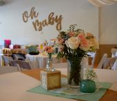 Oh Baby baby shower, baby shower decor, mint and gold baby shower, burlap baby s…