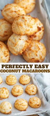 Coconut Macaroons are sweet and chewy, made from coconut flakes, sweetened conde…
