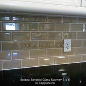 subway tile | Solana Beveled Glass Subway Tile in …