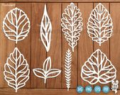 Leaves Svg SET 1 , Leaf Svg File 8 Leaf Designs | Leaves Cutting Svg | Wreath elements svg | Nature svg | Plants Svg | Cricut | Silhouette – paper flower templates