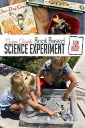 Find out how many animals will make your aluminum foil canoe sink with a book based science experime…