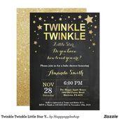 Baby Showers Twinkle Twinkle Twinkle Little Star Yellow Baby Shower Invitation