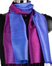 Thai handmade Silk Scarf Thai Silk Scarves Handmade Gift Womens Neck Scarf Blue Silk Scarf Fai...