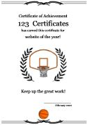 Basketball certificate of participation awards pinterest free printable basketball certificate templates basketball award certificates basketball certificates to print for kids yadclub Image collections
