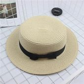 Fashion Parent-child sun hat Cute children sun hats bow hand made women straw cap beach big brim hat casual glris summer cap – Caps & hats& fedoras