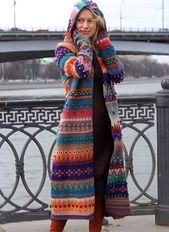 Long sleeves hooded sweater  – Klamotten