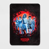 Stranger Things 46″x60″ Throw Blanket Black