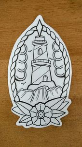 Lighthouse traditional tattoo by #tondriktattoo DO NOT COPY PLEASE