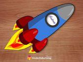 Raketen Einladung zum Weltraum Kindergeburtstag basteln: Vorlage – Kindergeburtstag