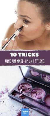 10 Tricks rund um Make-up und Styling.   – Haar und beauty