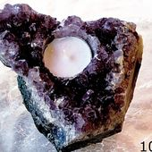 Amethyst Crystal Candle Holders | New Earth Gifts