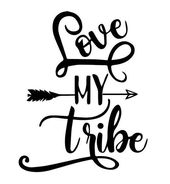 Love My Tribe- Custom Valentines Tshirt/Raglan Ladies – Wandbilder Love