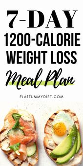Weight Loss Meal Plan: 7-Day, 1200 Calorie Diet Menu to Lose 10 LBS