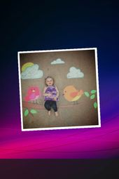 COOL – Pretty bird sidewalk chalk art   – Chalk Art