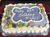Eine besondere 80. Geburtstagstorte für Mama in ihren Lieblingsfarben! Sie liebte es…   – Sheet cakes