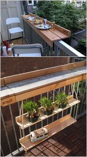 Wenn Ihr Balkon einen Kaffee oder einen Beistelltisch benötigt, groß oder klein – Balkon
