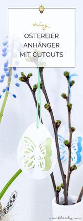 3 DIY Osterdeko Ideen mit Papier – #DIY #Ideen #mit #Osterdeko #Papier