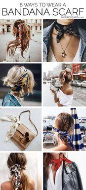 Merricks Kunst // Stil + Nähen für das alltägliche Mädchen8 Möglichkeiten, ein Bandana hinzuzufügen …   – Що вдягти