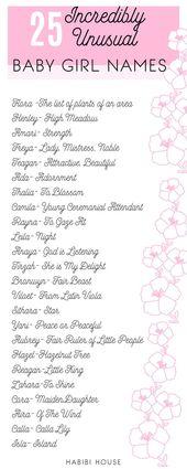 25 Unglaublich ungewöhnliche Babynamen – süß – #Babynamen # süß # ungewöhnlich …   – Wie verstehen wir Babys?