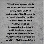 Mufti Menk zitiert, wie Sie Ihren Ehepartner freundlich behandeln können  – Mufti Menk Quotes