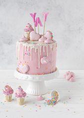 Candy Drip Cake Rezept backen Torte Mädchen Geburtstagstorte #dripcake #birthda… – Backen
