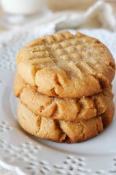 The Easiest Soft and Chewy Peanut Butter Cookies A…