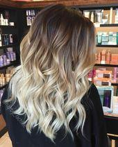20 Blonde Ombre Haarfarbe Ideen im Jahr 2019 Blonde Ombre Frisur mit anderen Worten b …   – nail