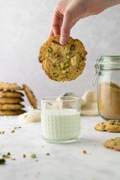 PISTAZIEN weiße SCHOKOLADENPLÄTZCHEN (weich & amerikanisch)   – Kekse / Cookies