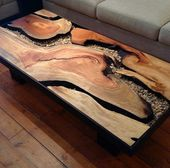 I love this handcrafted table! Gorgeous design.