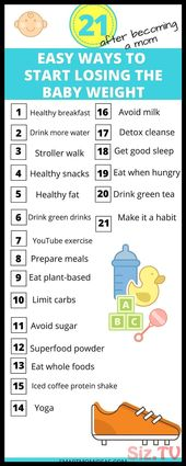 Do you need a baby weight loss plan  I mean the before and after baby weight los…